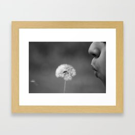 Dandelion Black & White Framed Art Print
