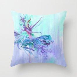 Twilight Twirl Throw Pillow