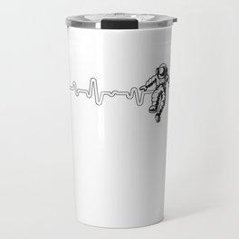 Astronaut Heartbeat Outer Space Explorer Rocketship Travel Mug