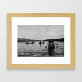 Canoe to Fish Creek Framed Art Print