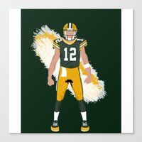 packers Canvas Prints featuring Cheese Head - Aaron Rodgers by IllSports