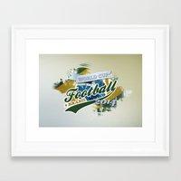 football Framed Art Prints featuring Football  by ArtAngelo
