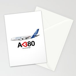 Airbus A380 - Love at First Flight  Stationery Cards