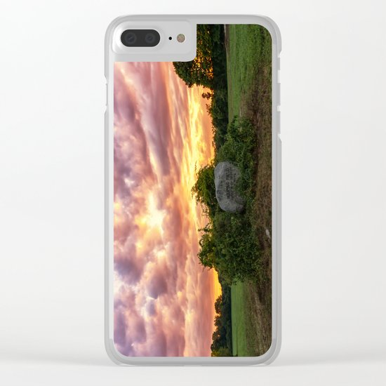 Waring field at sunset Clear iPhone Case