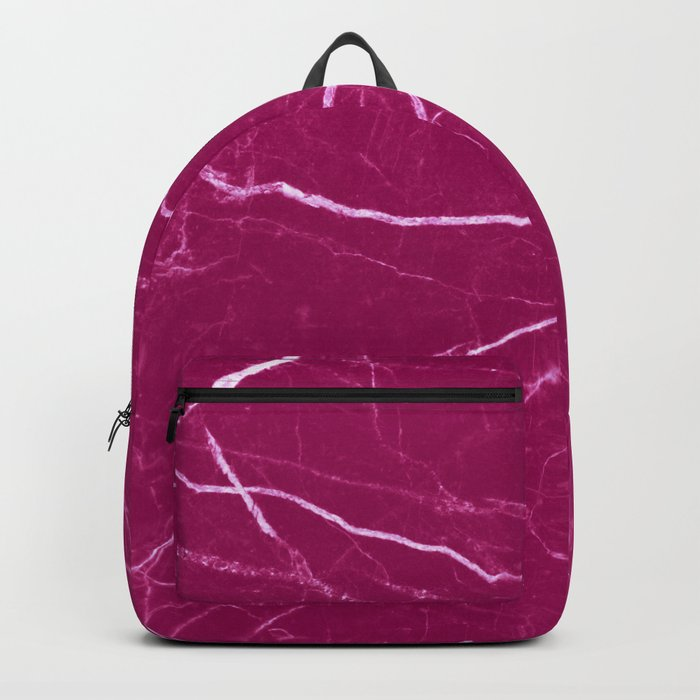 Magenta marble abstract texture pattern Backpack