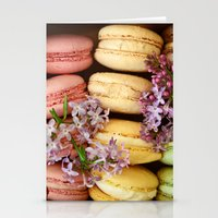 macaroons Stationery Cards featuring Pretty Macaroons by Olivia Joy StClaire