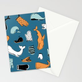 Whale Oven Mitt Stationery Cards