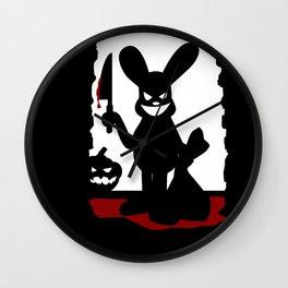 Bloody Rabbit Halloween version Wall Clock