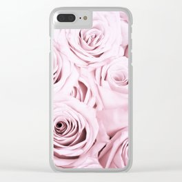 Pink Roses Flowers - Rose and flower pattern Clear iPhone Case