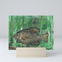 Black Crappie Fish in River Water Mini Art Print