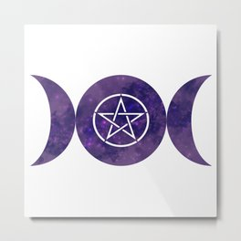 Purple Moon Rune Metal Print