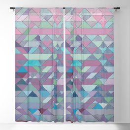 Triangle Pattern no.3 Violet Blackout Curtain