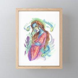 Kimono Blue Skin Mermaid  Framed Mini Art Print