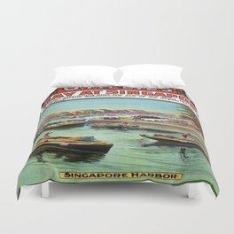 Vintage poster - Singapore Duvet Cover