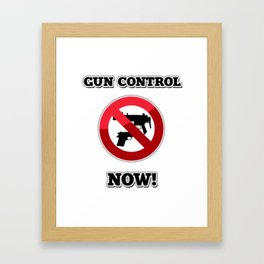 Gun Control Now Framed Art Print