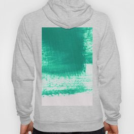 Teal paint abstract. Hoody