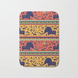 Walking With Elephants Bath Mat