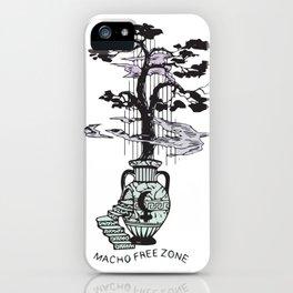 Macho Free Zone iPhone Case