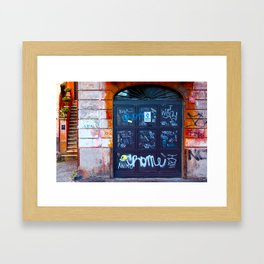 Rome: Garage Framed Art Print