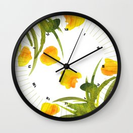 Atom Flowers #34 Wall Clock