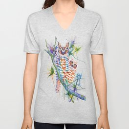 Momma and Baby Owls Unisex V-Neck