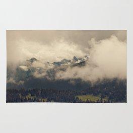 Mountains through the Fog Rug