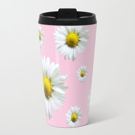 Pink Daisy Chains Travel Mug