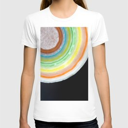 Colorful Abstract Slice of Giant Jawbreaker Candy T-shirt