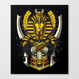 Egyptian Pharaoh Tutankhamun Ancient King Tut Canvas Print