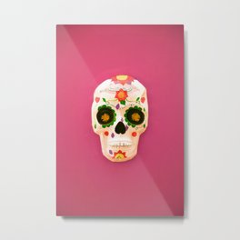 Mexican skull art Metal Print