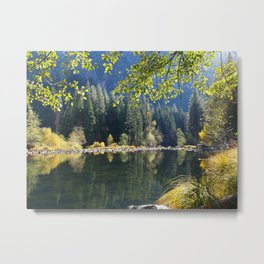 Merced River Reflections Metal Print