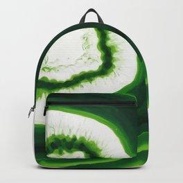Green Agate Geode slice Backpack