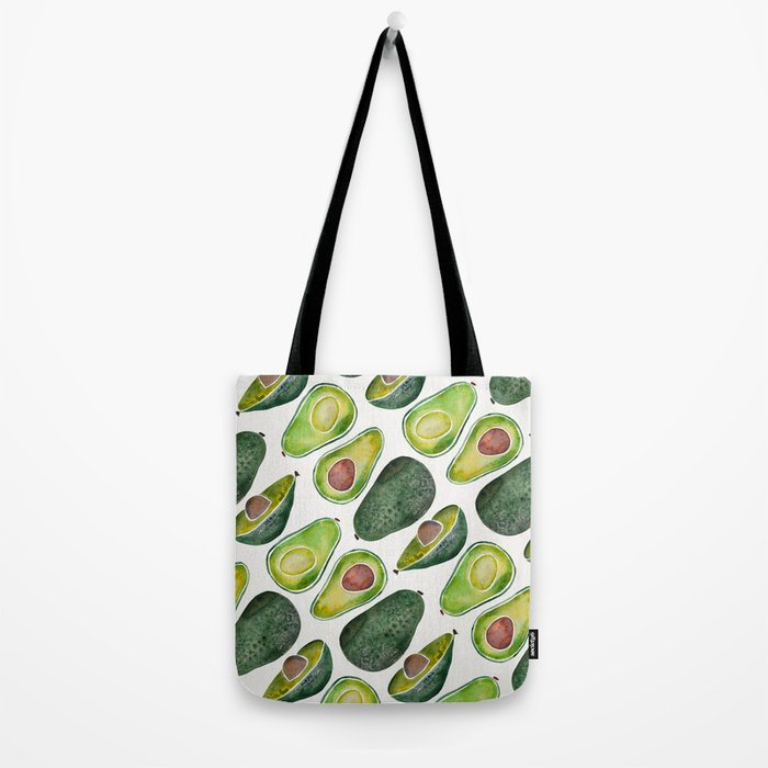Avocado Slices Tote Bag