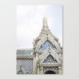 Painted Tiles in the Grand Palace Canvas Print