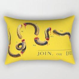 Join, or Die. Rectangular Pillow