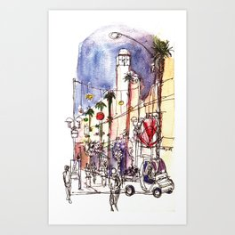 Third Street Promenade, Santa Monica California Art Print