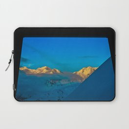 Alaska Winter Mountain Sunset Laptop Sleeve