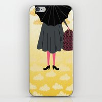 mary poppins iPhone & iPod Skins featuring Mary Poppins by Prelude Posters