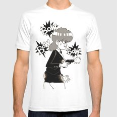Irene Lew White SMALL Mens Fitted Tee