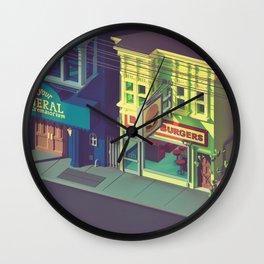 Beefiest burgers in town Wall Clock
