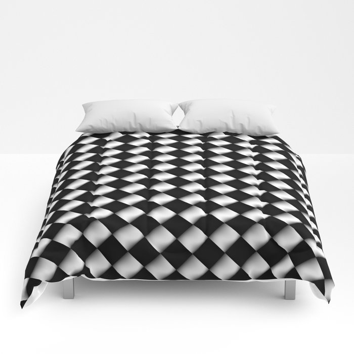 Black and White 1 Comforters