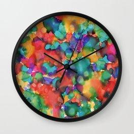 ''Colour Splash' | Original painting by Mimi Bondi Wall Clock