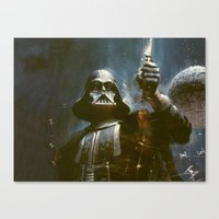 Darth Vader Vintage Canvas Print