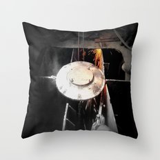 Work in Progress (Building the Ship) Throw Pillow