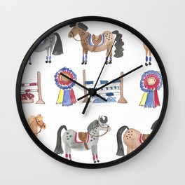 Jumper Ponies Wall Clock