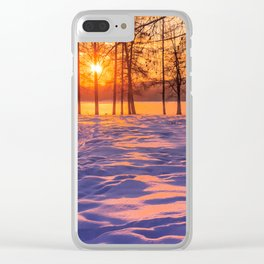 view through the pines Clear iPhone Case