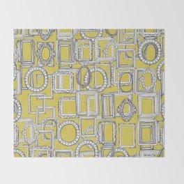 picture frames aplenty yellow Throw Blanket