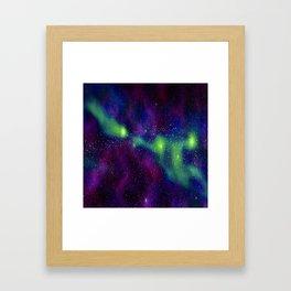 galaxy greenwave Framed Art Print