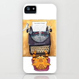 The Great Catsby. iPhone Case