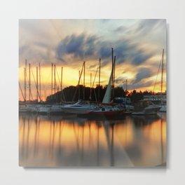 Salboats at Sunset in Toronto Metal Print